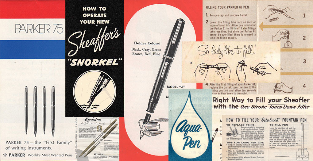 Library Of Vintage Pen And Pencil User Guides